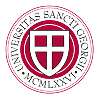 Universitas Sancti Georgii MCMLXXVI - St. George's University School of Medicine seal.