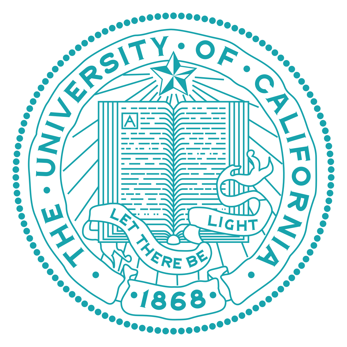The University of California 1868 seal.