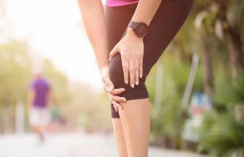 Runner with knee injury.